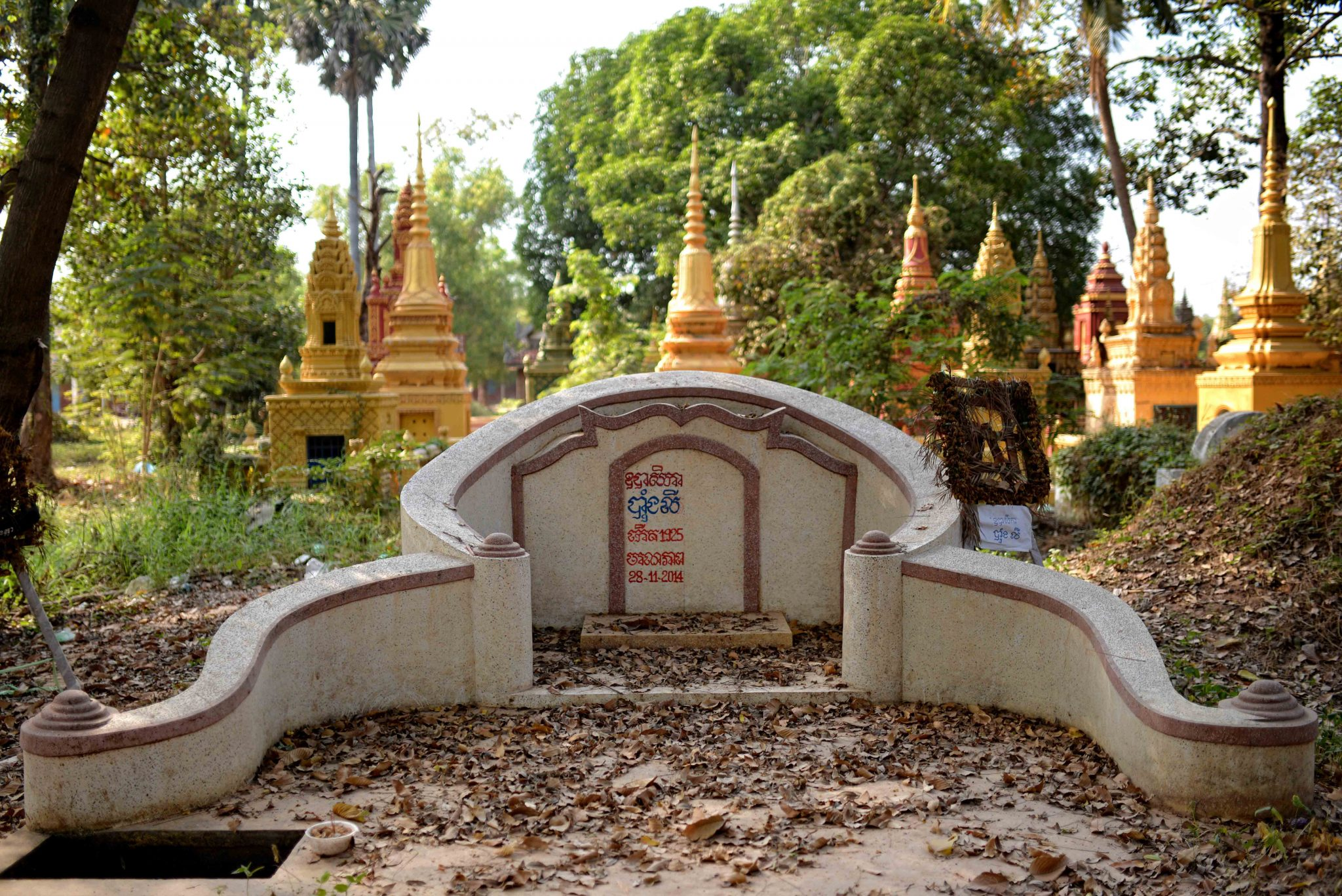 Cemetery in Siem Reap, Cambodia