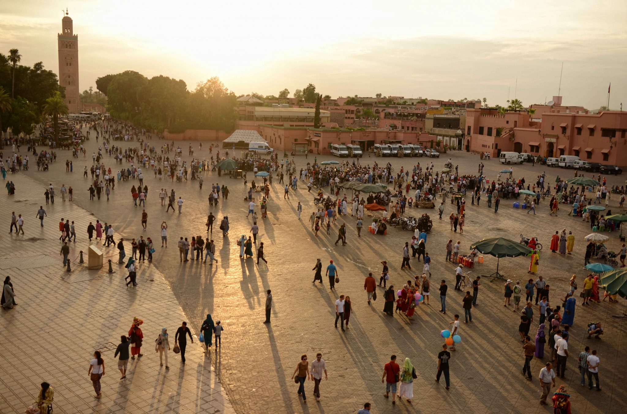 Jemaa el Fna at sunset