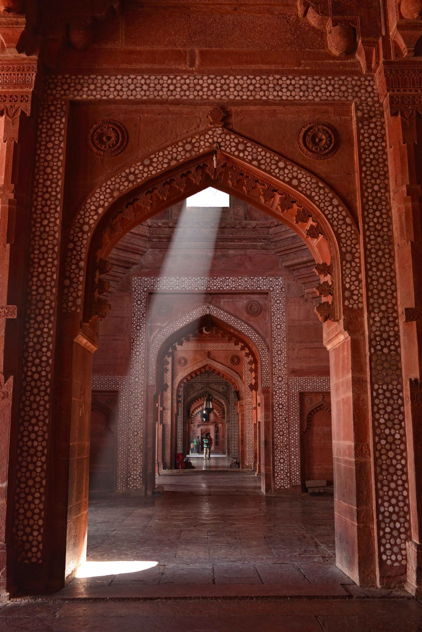 A mystical moment at Jama Masjid, Fatehpur Sikri