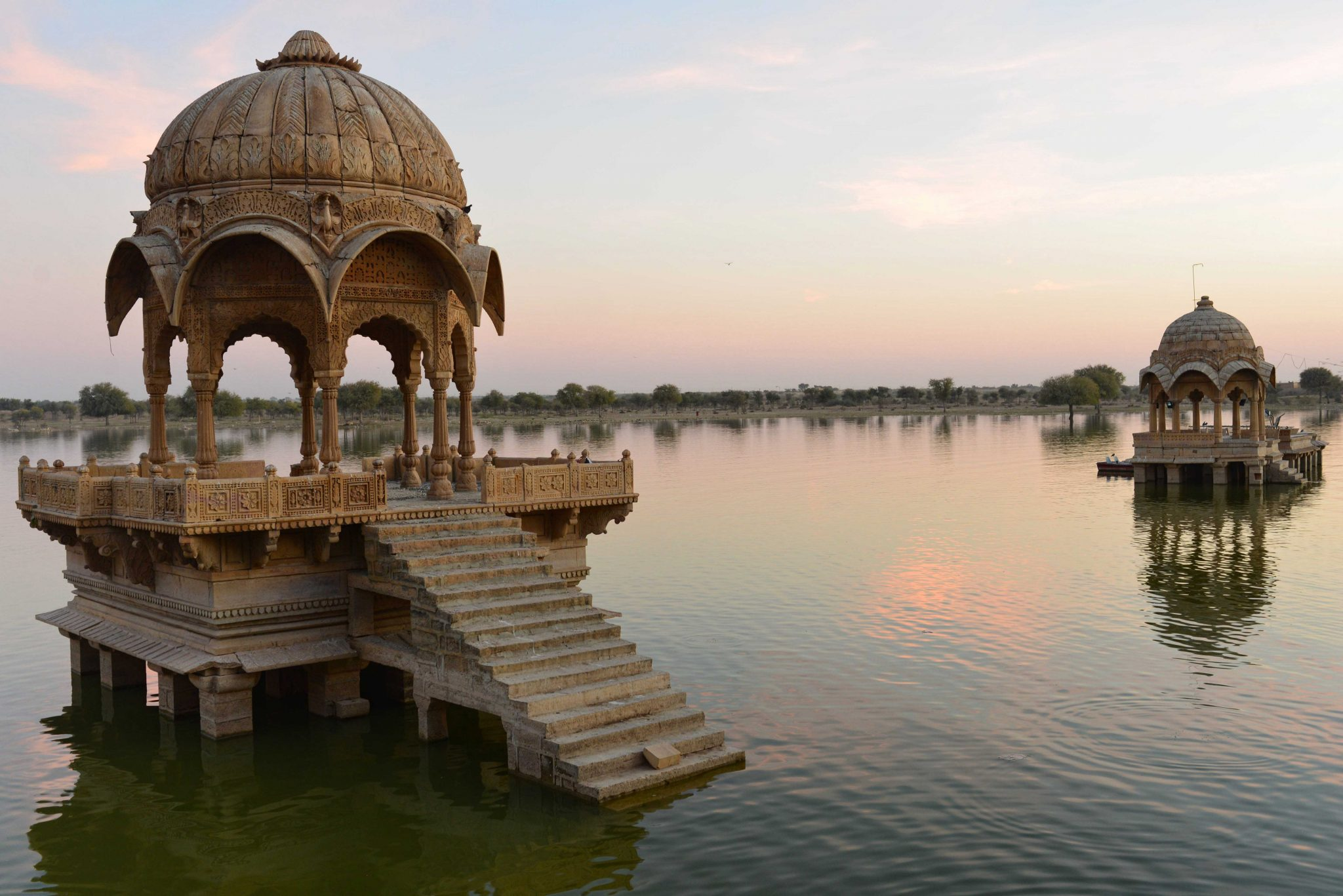 Sunset at Gadsisar Sagar Lake, Jaisalmer