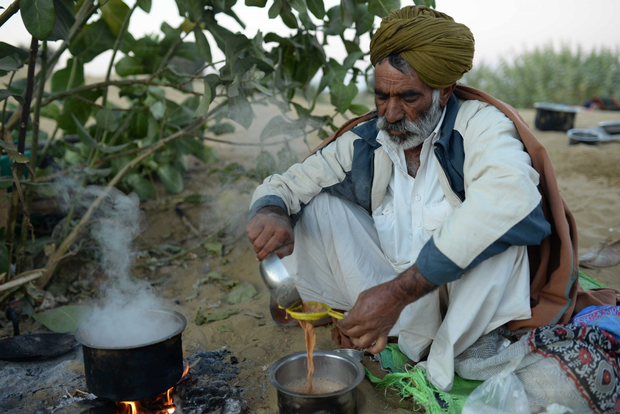 Morning Chai in the Thar Desert