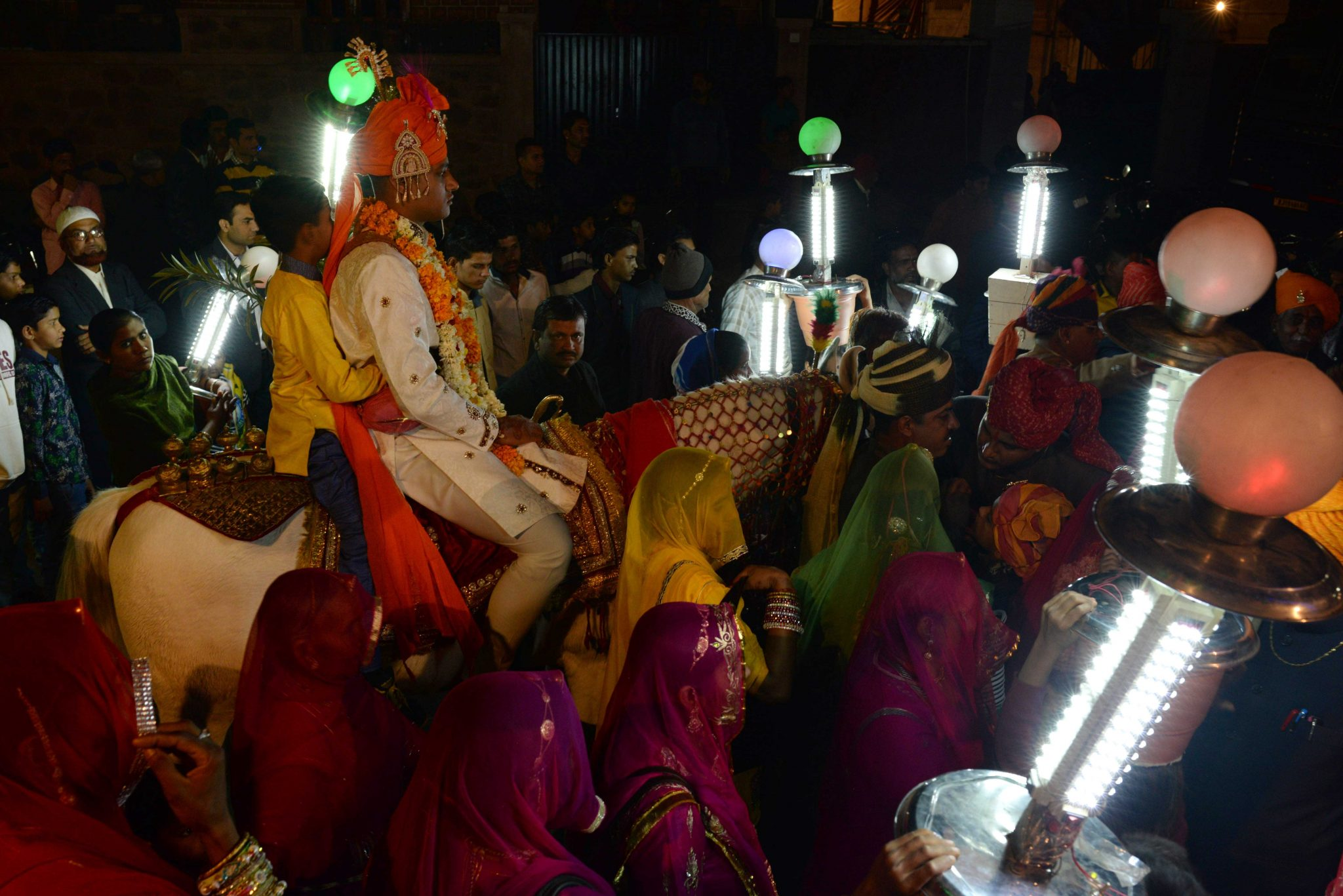 North Indian Baraat (groom's wedding procession)