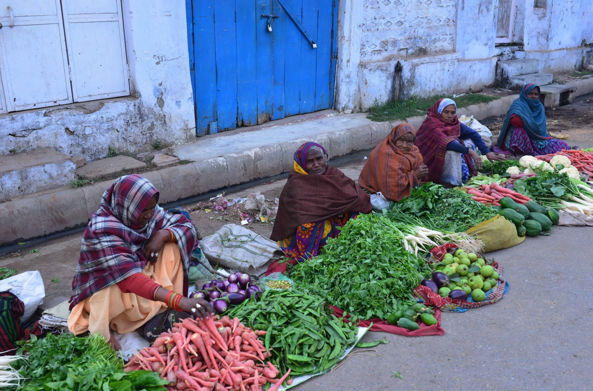 Selling vegetables, Varanasi