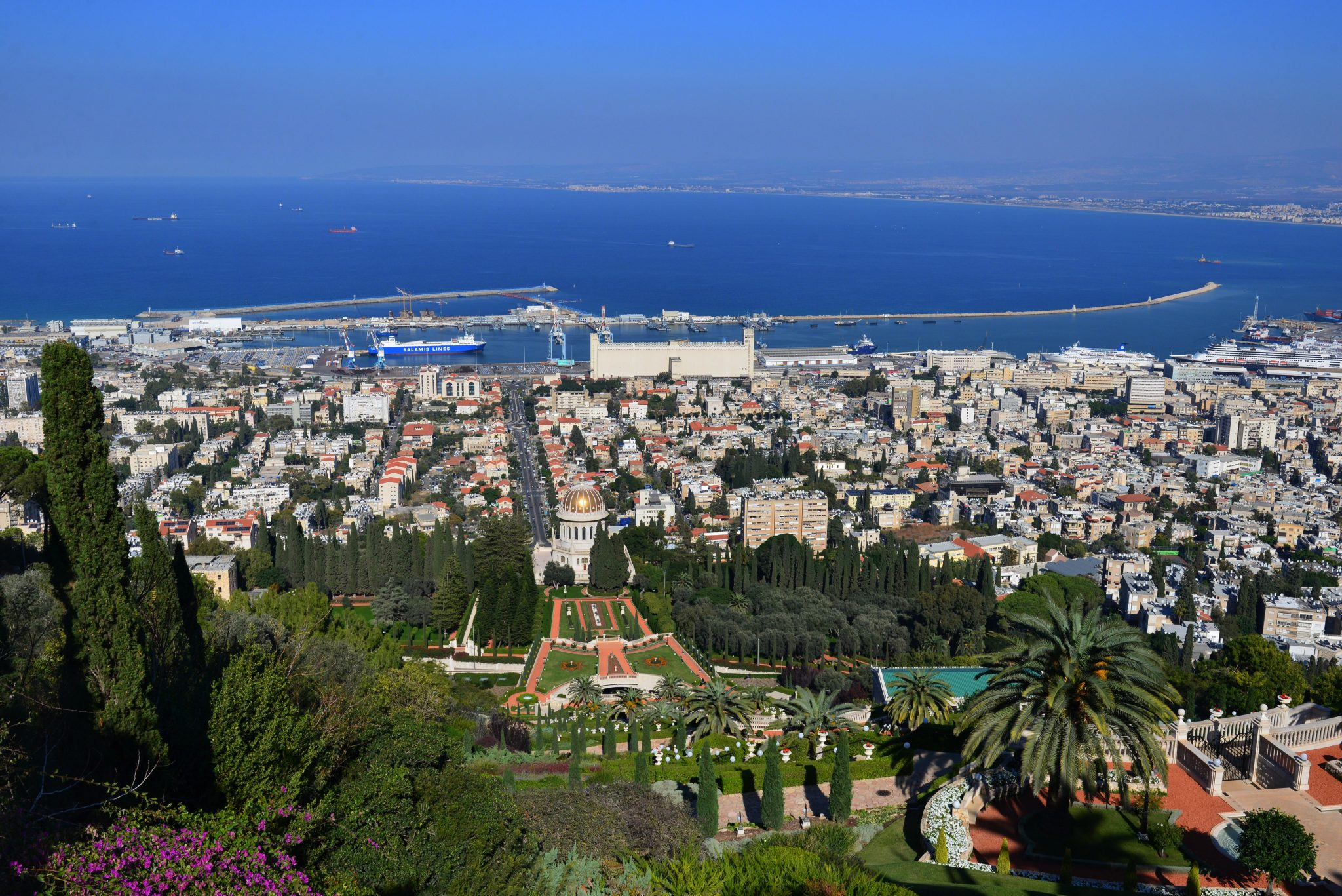 View of Haifa from the Baha'i Gardens