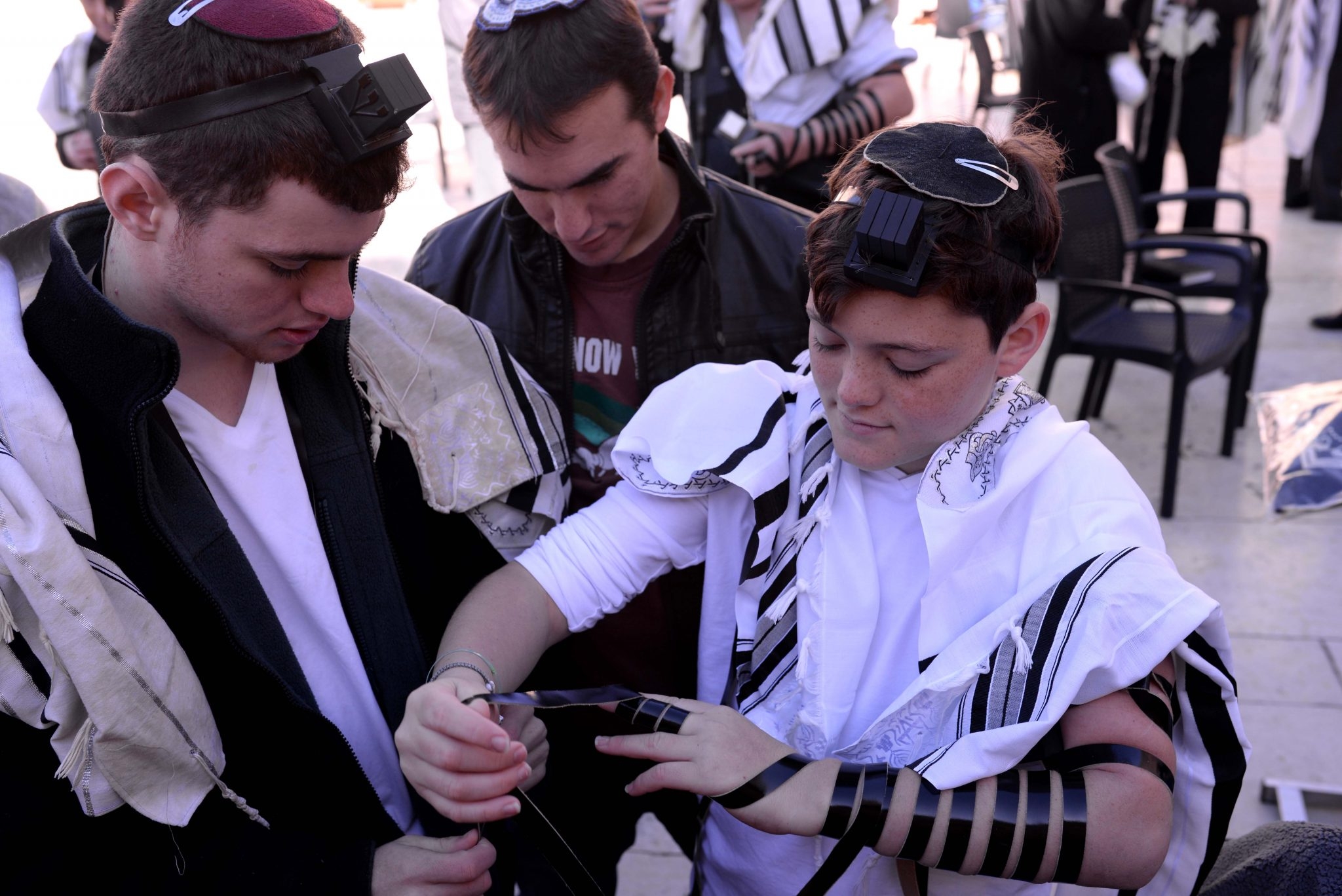 Bar Mitzvah celebration at the Western Wall