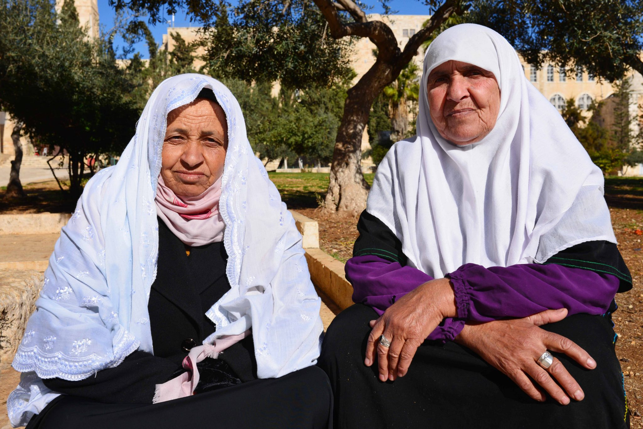 Women from Gaza visiting Al-Aqsa Mosque