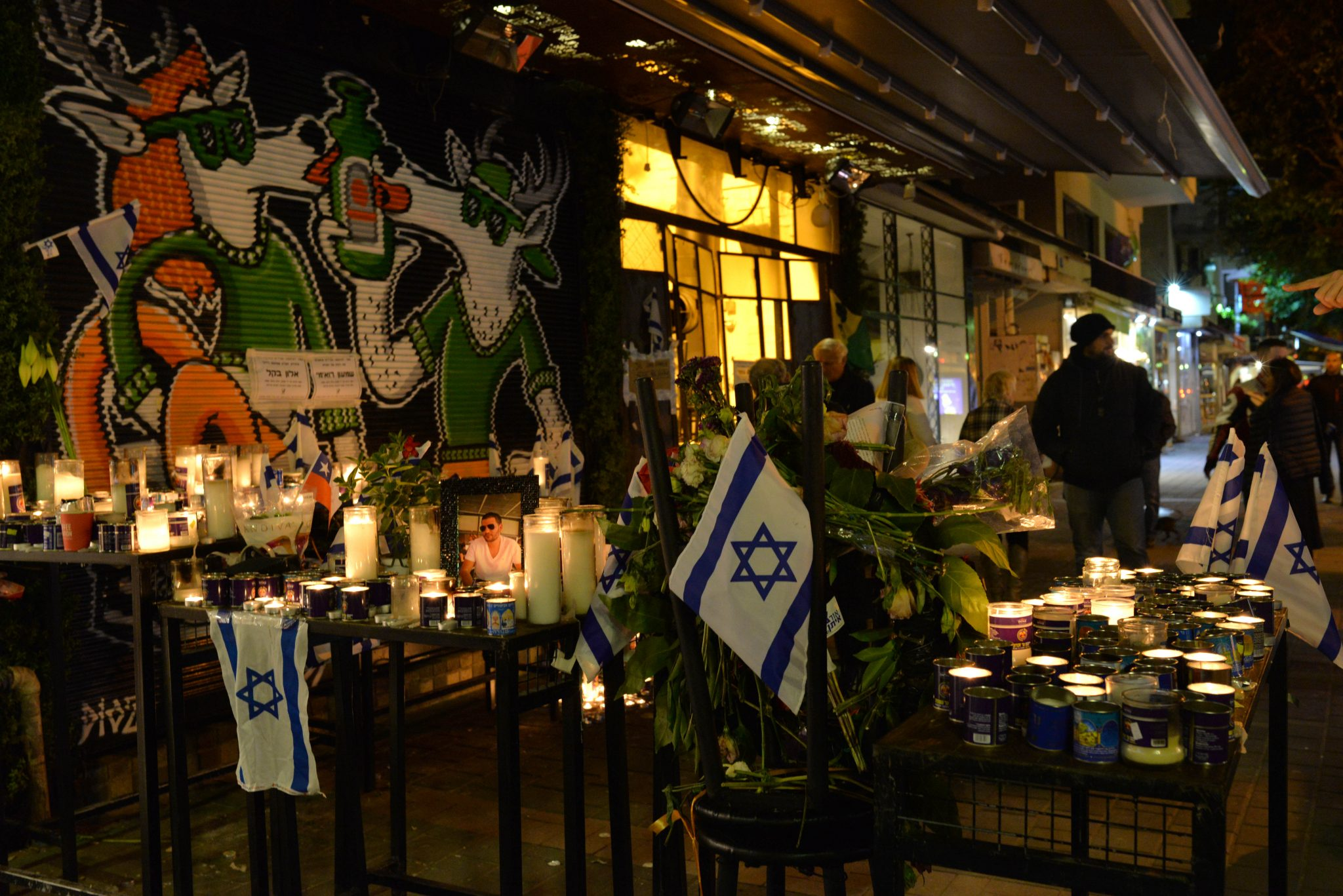 Memorial for victims of Tel Aviv shooting on New Year's Day
