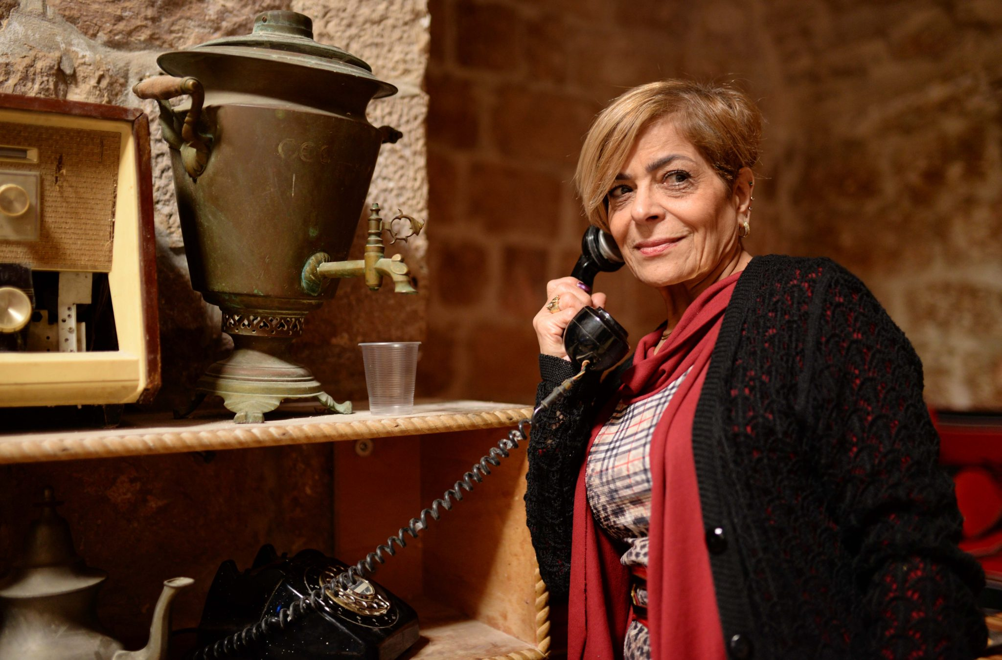 My relative at a Turkish Bath in Nablus